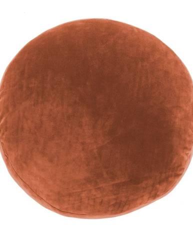 Oranžový dekoratívny vankúš z mikrovlákna Tiseco Home Studio Marshmallow, ø 40 cm