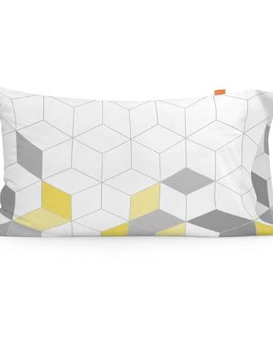 Súprava 2 bavlnených obliečok na vankúš Blanc Symmetry, 50 × 75 cm
