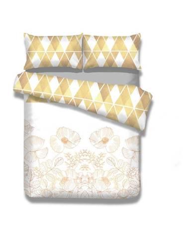 Súprava 2 flanelových obliečok na jednolôžko AmeliaHome Golden Poppy, 135 x 200 cm