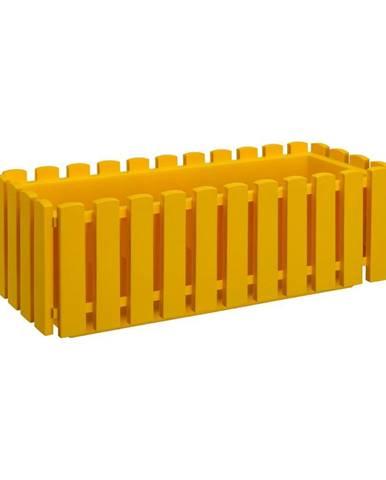 Žltý črepník Gardenico Fency System, dĺžka 50 cm