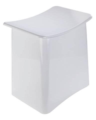 Biela taburetka s úložným priestorom Wenko Wing, 33 l