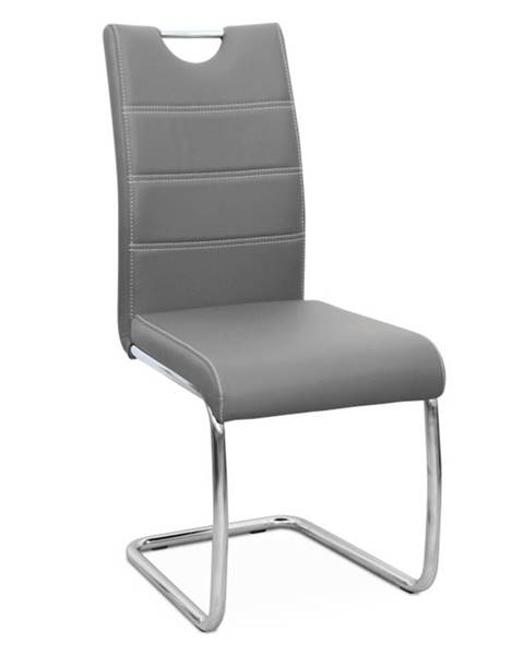 Tempo Kondela Jedálenská stolička svetlosivá/svetlé šitie ABIRA NEW