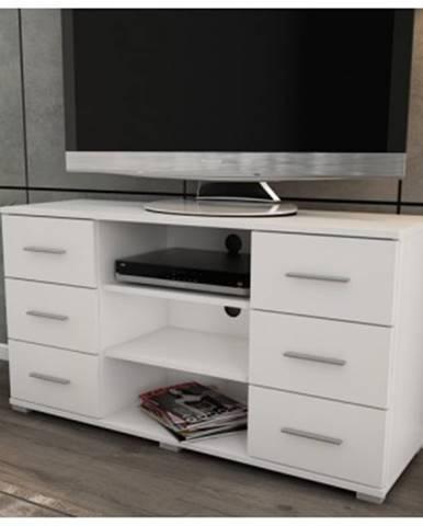 Vysoký TV stolík Oskar TV, biely, výška 65 cm%