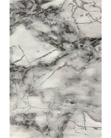 Koberec Craft 80x150 cm, mramorová optika, šedo-strieborný%