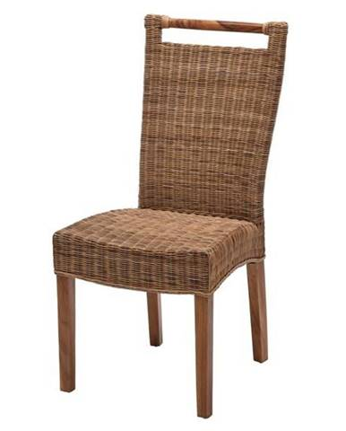 Jedálenská stolička CALLISTA prírodná/ratan