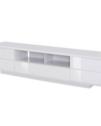 TV stolík DORIAN ľadovo biela/vysoký lesk