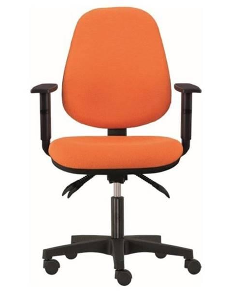 Sconto Kancelárska stolička DELILAH oranžová