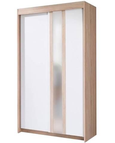 Skriňa Belt 120 cm sonoma/biela