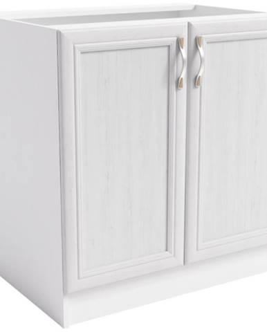 Skrinka do kuchyne Sycylia  D80 biela/dub lancelot