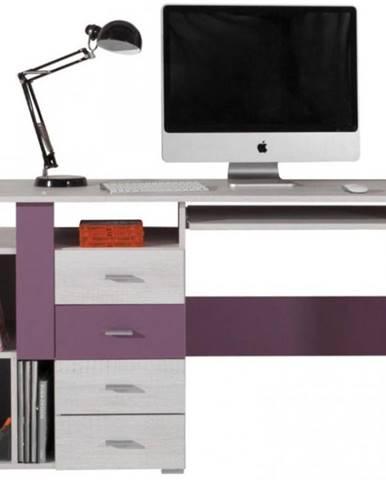 Písací stôl Next NX-13 borovica biela/viola