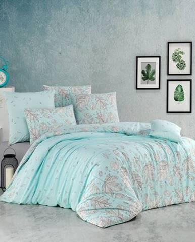 BedTex Bavlnené obliečky Hostid mentolová, 220 x 200 cm, 2 ks 70 x 90 cm