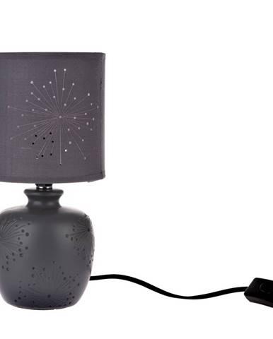 Keramická stolná lampa Galaxy, čierna, 13 x 26,5 x 13 cm