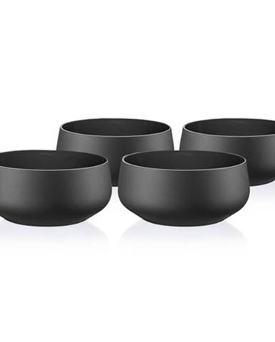 Crystalex 4-dielna sada misiek Mini Bowls Black, 95 ml