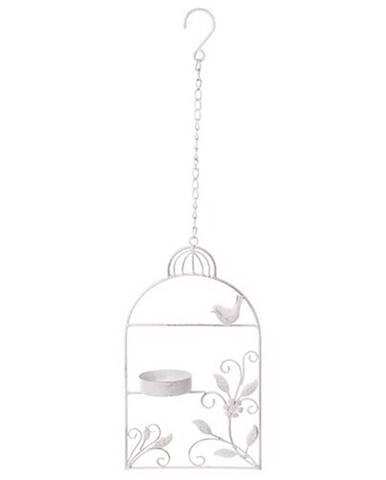 Kŕmidlo, kovová dekorácia na zavesenie Vtáčia klietka, 18 x 61 x 8 cm