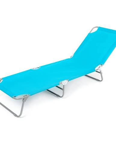 Happy Green Plážové ležadlo SUNBAY svetlomodrá