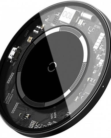 Magnetická nabíjačka na iPhone 12 series, S Baseus, 15 W, biela