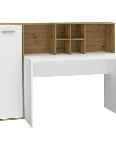 Písací stôl Bolitarr dub artisan/biely