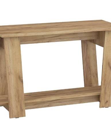 Písací stôl Via zlatý craft