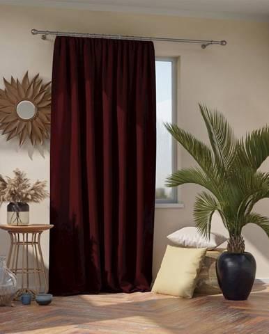 Burgundskyčervený záves AmeliaHome Pleat, 140 x 270 cm