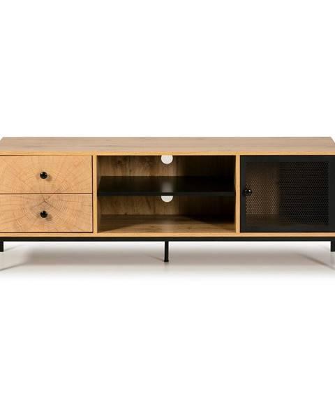 Marckeric Hnedá TV komoda z borovicového dreva Marckeric Andy, šírka 144 cm