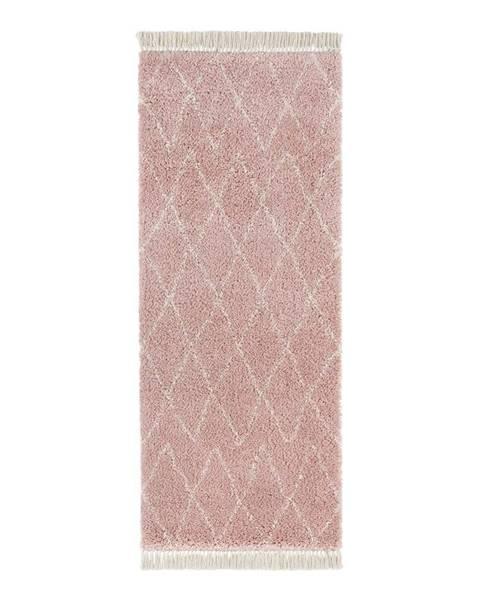 Mint Rugs Ružový behúň Mint Rugs Jade, 80x200cm