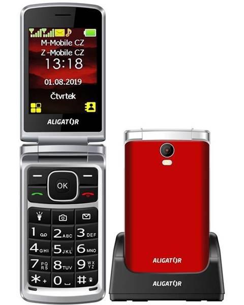 Aligator Mobilný telefón Aligator V710 Senior Dual SIM červený