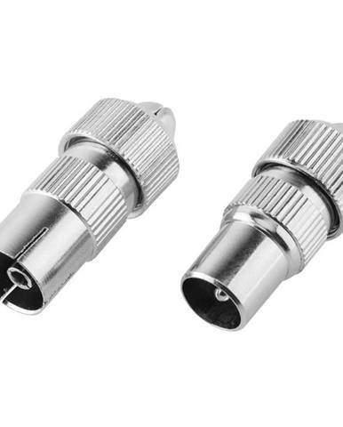 Aanténny konektor Gogen rovný, kovový, 2ks