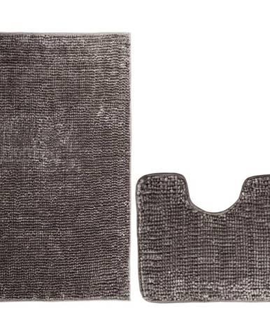 AmeliaHome Sada kúpeľňových predložiek Bati hnedá, 2 ks 50 x 80 cm, 40 x 50 cm