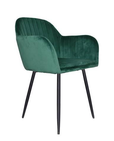 Dizajnové kreslo smaragdová Velvet látka ZIRKON