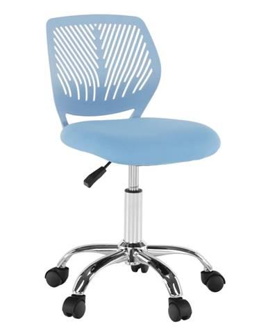 Otočná stolička modrá/chróm SELVA rozbalený tovar