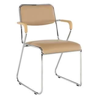 Zasadacia stolička hnedá ekokoža DERYA rozbalený tovar