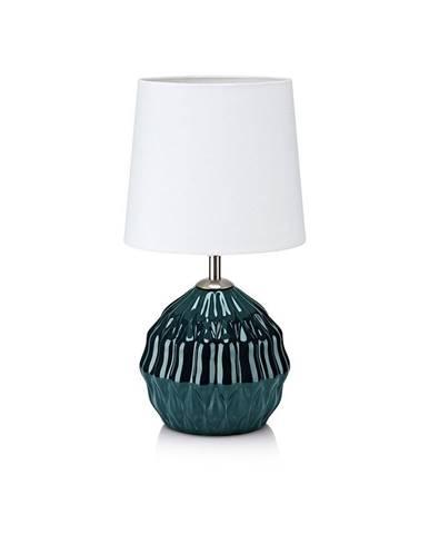 Zeleno-biela stolová lampa Markslöjd Lora