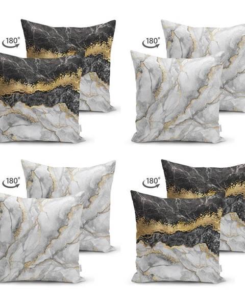 Minimalist Cushion Covers Súprava 4 obliečok na vankúše Minimalist Cushion Covers Marble, 45 x 45 cm