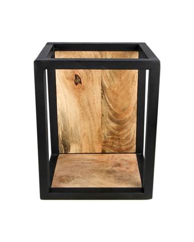 Nástenná polica s detailom z mangového dreva HSM collection Caria, 25×35 cm