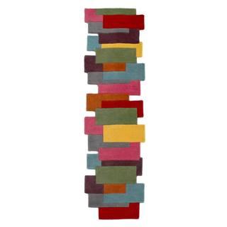Farebný vlnený behúň Flair Rugs Abstract Collage, 60 x 230 cm