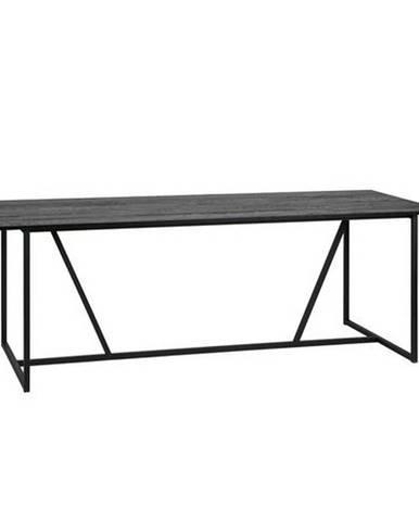 Ambia Home JEDÁLENSKÝ STÔL, masívne, dub, čierna, 220/90/75 cm - čierna