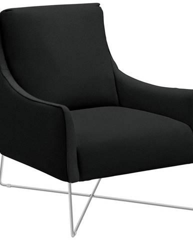 Natuzzi Editions KRESLO, koža, čierna - čierna