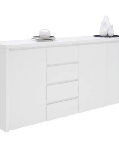 Voleo ŠIROKÁ KOMODA, biela, 192,2/92,2/45 cm - biela