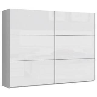 Carryhome SKRIŇA S POSUVNÝMI DVERMI, biela, 269,9/209,7/61,2 cm - biela
