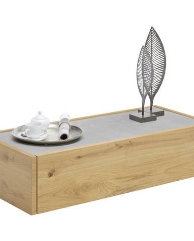 hülsta KONFERENČNÝ STOLÍK, sivá, farby dubu, drevo, 111/47,6/28,8 cm - sivá, farby dubu