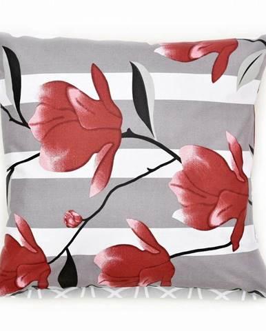 Bellatex Obliečka na vankúšik Krík sivá, 40 x 40 cm