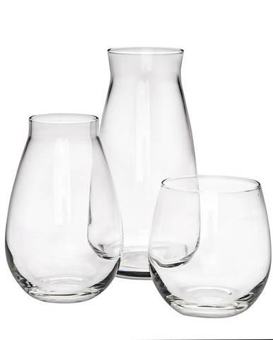 Altom Sada dvoch sklenených váz a svietnika Avangarda, 3 ks