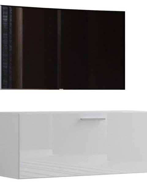 Möbelix Tv - Skrinka Fernso Š: 95 Cm Biela Vysoký Lesk