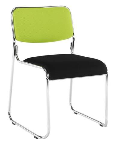 Zasadacia stolička zelená/čierna sieťovina BULUT