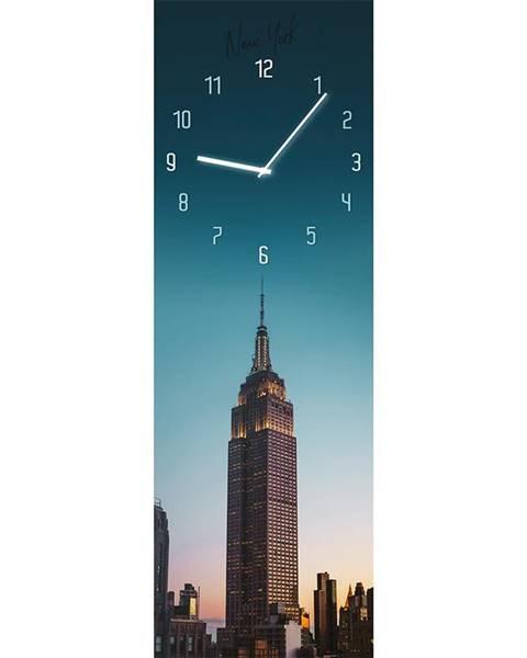 MERKURY MARKET Sklenené hodiny 20X60 GC017 Manhattan GL-00958