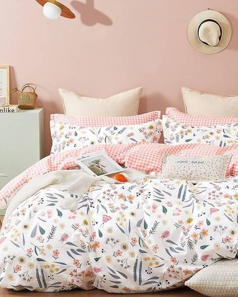 MERKURY MARKET Bavlnená saténová posteľná bielizeň ALBS-01217B 160X200