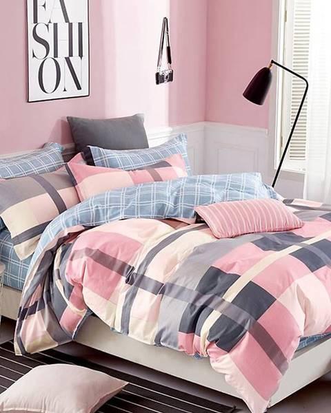 MERKURY MARKET Bavlnená saténová posteľná bielizeň ALBS-0911B 200X220