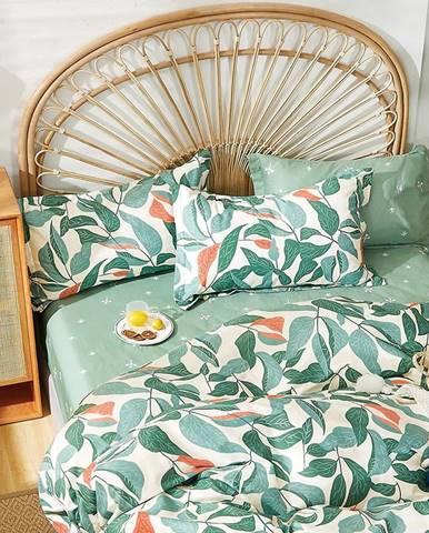 Bavlnená saténová posteľná bielizeň ALBS-01249B 160X200