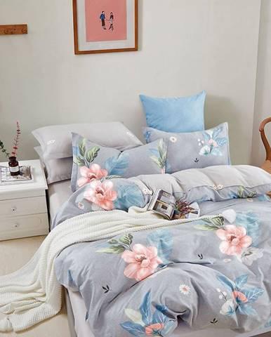 Bavlnená saténová posteľná bielizeň ALBS-01251B 160X200