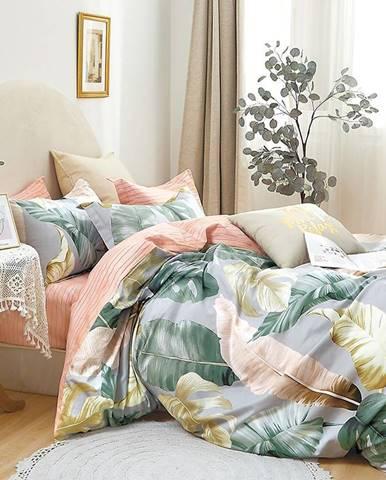 Bavlnená saténová posteľná bielizeň ALBS-01253B 160X200